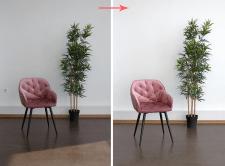 Обработка фото стула в интерьере