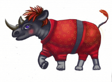 Носорог (иллюстрация к детской книжке)