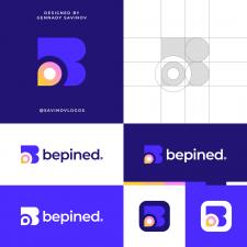 Pin Map B Letter Logo