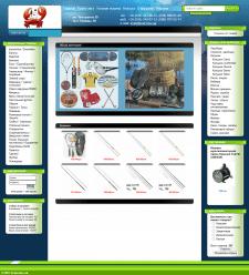 Интернет-магазин krab.kiev.ua. Верстка+модификация