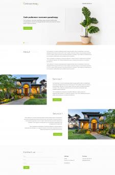 Минималистичный дизайн сайт Landscape