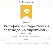 Google Adwords YouTube Certified