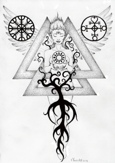 Valknut ink tattoo design