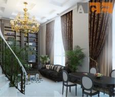 Гостинная двухуровневой квартиры_ракурс2