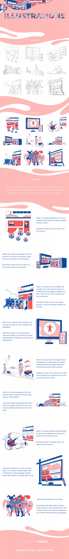 Illustrations for the company's home page