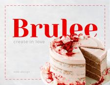 Brulee - Cake studio web design