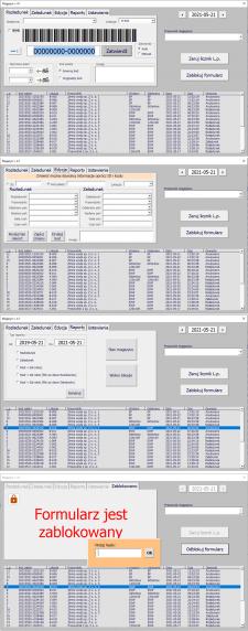 Приложение Excel для хранения палет на складе