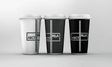 """Логотип и дизайн стакана для кофейни """"Лестница"""""""