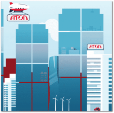 Иллюстрация город будущего для стенда
