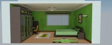 проект спальная комната с 3Д моделями