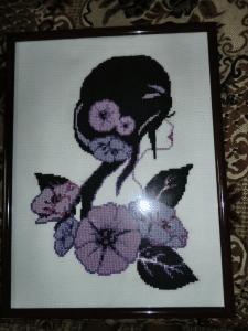 """Картина """"Девушка-цветок"""""""