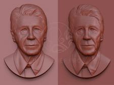 Портретный барельеф по фотографии в 3Д