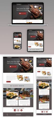 Создание дизайна для сайта ресторана