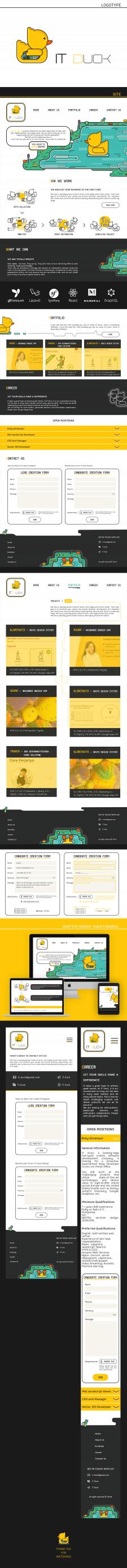 Логотип, сайт для IT Duck