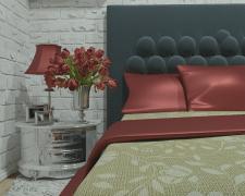 Интерьер квартиры-студии (Спальня)