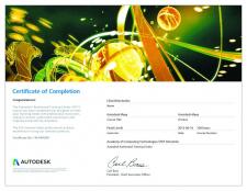 Сертификат от Autodesk Maya