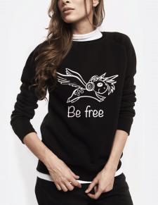 """Принт для свитшотов и футболок """"Be free"""""""