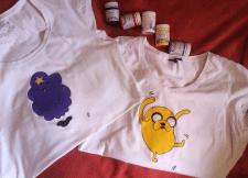 Текстильная роспись футболки