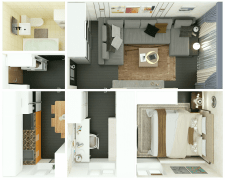 планировка квартиры - вид сверху