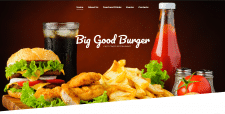 Burger Project Site. Верстка