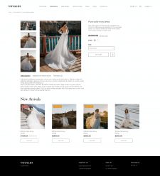 Voyaldi (Сайт свадебных платьев)