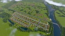 Визуализация генплана коттеджного городка