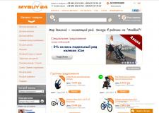 Наполнение интернет-магазина mybuy24 контентом