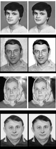 Реставрація чорно-білого фото