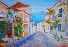 Греция (гуашь)