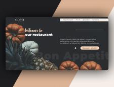 "Дизайн сайта ресторана ""GOSTI"""