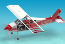 3D модель самолета