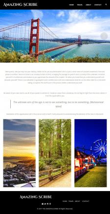 "Сайт для фотографа из USA ""Amazing Scribe"""