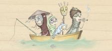 Семья в лодочке