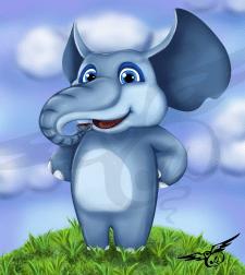 персонаж слоник