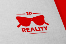 3d reality logo, business card, vector, logo