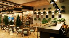 Дизайн-проект общего зала кафе Relax-bar