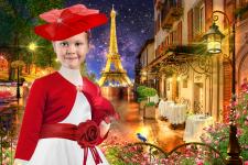 Шаблон для фото - Парижанка