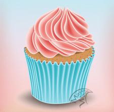 векторный cupcake