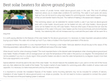 Best solar heaters for above ground pools