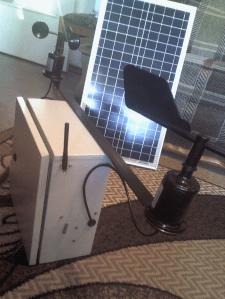 Система мониторинга ветровой обстановки местности