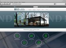 Сайт визитка для компании ND-Sklo