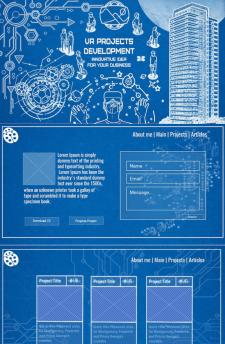 Дизайн сайта-портфолио для фрилансера