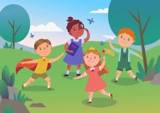 Векторная иллюстрация с детьми