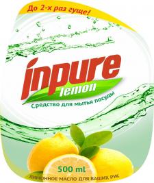 Inpure cредство для мытья посуды. Лимон