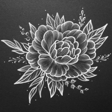 Flowers • line art