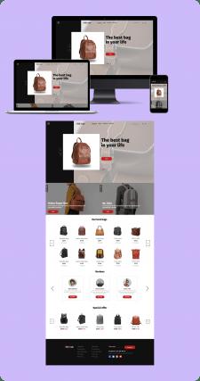 Сайт-магазин по продаже портфелей