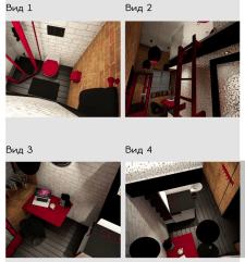 3D визуализация, минимальное жилое пространство