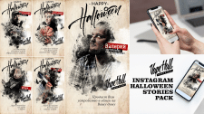 Посты Instagram Stories для Halloween Party