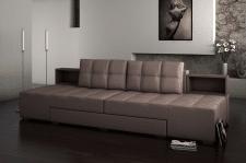 Моделирование дивана + визуализация в интерьере