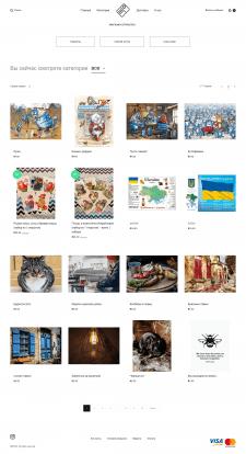 Верстка сайта для продажи открыток